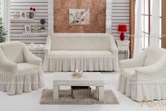 bürümcük koltuk örtüsü beyaz