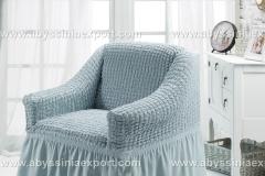 Bürümcük koltuk örtüsü tekli buz mavi