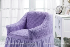 Bürümcük koltuk örtüsü tekli  lila