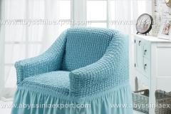 Bürümcük koltuk örtüsü tekli mavi