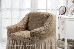 Bürümcük koltuk örtüsü tekli  naturel
