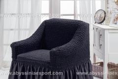 Bürümcük koltuk örtüsü tekli  siyah