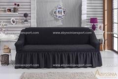 Bürümcük koltuk örtüsü üçlü siyah